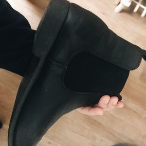 boohoo ankle leather boots
